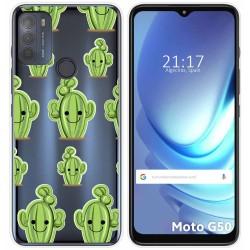 Funda Gel Transparente para Motorola Moto G50 5G diseño Cactus Dibujos