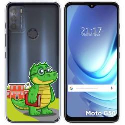 Funda Gel Transparente para Motorola Moto G50 5G diseño Coco Dibujos