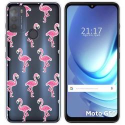Funda Gel Transparente para Motorola Moto G50 5G diseño Flamenco Dibujos