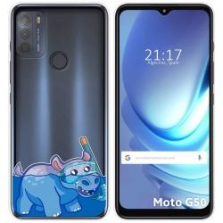 Funda Gel Transparente para Motorola Moto G50 5G diseño Hipo Dibujos
