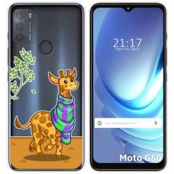 Funda Gel Transparente para Motorola Moto G50 5G diseño Jirafa Dibujos