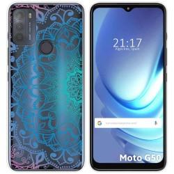 Funda Gel Transparente para Motorola Moto G50 5G diseño Mandala Dibujos