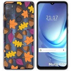 Funda Gel Transparente para Motorola Moto G50 5G diseño Otoño Dibujos