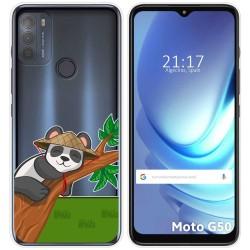 Funda Gel Transparente para Motorola Moto G50 5G diseño Panda Dibujos