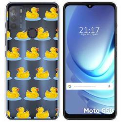 Funda Gel Transparente para Motorola Moto G50 5G diseño Pato Dibujos