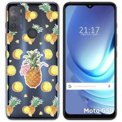 Funda Gel Transparente para Motorola Moto G50 5G diseño Piña Dibujos