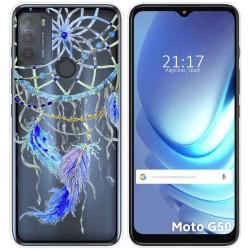 Funda Gel Transparente para Motorola Moto G50 5G diseño Plumas Dibujos