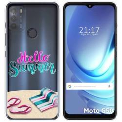 Funda Gel Transparente para Motorola Moto G50 5G diseño Summer Dibujos