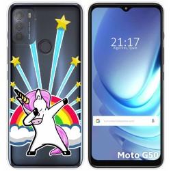 Funda Gel Transparente para Motorola Moto G50 5G diseño Unicornio Dibujos