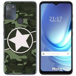 Funda Gel Tpu para Motorola Moto G50 5G diseño Camuflaje 01 Dibujos