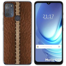 Funda Gel Tpu para Motorola Moto G50 5G diseño Cuero 01 Dibujos