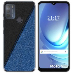 Funda Gel Tpu para Motorola Moto G50 5G diseño Cuero 02 Dibujos