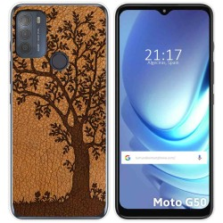 Funda Gel Tpu para Motorola Moto G50 5G diseño Cuero 03 Dibujos