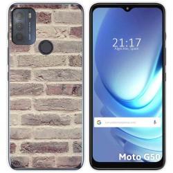 Funda Gel Tpu para Motorola Moto G50 5G diseño Ladrillo 01 Dibujos