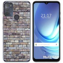 Funda Gel Tpu para Motorola Moto G50 5G diseño Ladrillo 02 Dibujos
