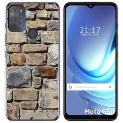 Funda Gel Tpu para Motorola Moto G50 5G diseño Ladrillo 03 Dibujos