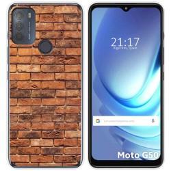 Funda Gel Tpu para Motorola Moto G50 5G diseño Ladrillo 04 Dibujos