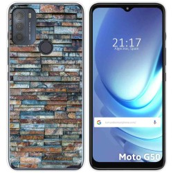 Funda Gel Tpu para Motorola Moto G50 5G diseño Ladrillo 05 Dibujos