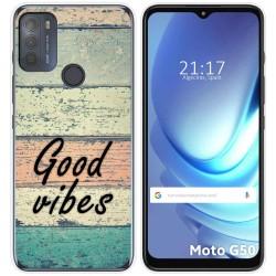 Funda Gel Tpu para Motorola Moto G50 5G diseño Madera 01 Dibujos