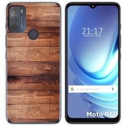 Funda Gel Tpu para Motorola Moto G50 5G diseño Madera 02 Dibujos
