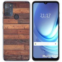 Funda Gel Tpu para Motorola Moto G50 5G diseño Madera 03 Dibujos