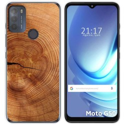 Funda Gel Tpu para Motorola Moto G50 5G diseño Madera 04 Dibujos