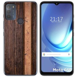 Funda Gel Tpu para Motorola Moto G50 5G diseño Madera 05 Dibujos