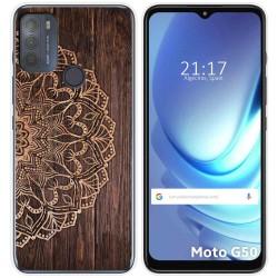 Funda Gel Tpu para Motorola Moto G50 5G diseño Madera 06 Dibujos