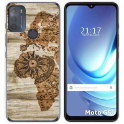 Funda Gel Tpu para Motorola Moto G50 5G diseño Madera 07 Dibujos