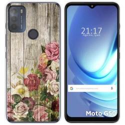 Funda Gel Tpu para Motorola Moto G50 5G diseño Madera 08 Dibujos
