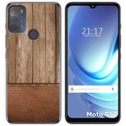 Funda Gel Tpu para Motorola Moto G50 5G diseño Madera 09 Dibujos
