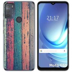 Funda Gel Tpu para Motorola Moto G50 5G diseño Madera 10 Dibujos