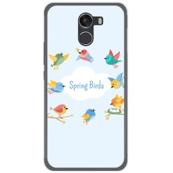 Funda Gel Tpu para Wileyfox Swift 2 Diseño Spring Birds Dibujos