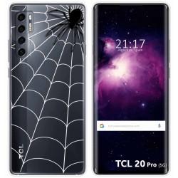 Funda Gel Transparente para TCL 20 Pro 5G diseño Araña Dibujos