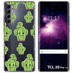 Funda Gel Transparente para TCL 20 Pro 5G diseño Cactus Dibujos