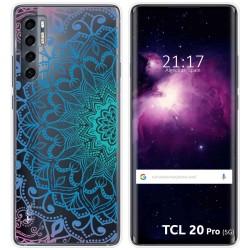Funda Gel Transparente para TCL 20 Pro 5G diseño Mandala Dibujos