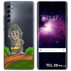 Funda Gel Transparente para TCL 20 Pro 5G diseño Mono Dibujos