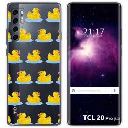 Funda Gel Transparente para TCL 20 Pro 5G diseño Pato Dibujos