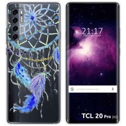 Funda Gel Transparente para TCL 20 Pro 5G diseño Plumas Dibujos