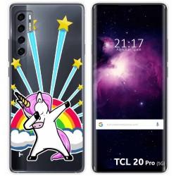Funda Gel Transparente para TCL 20 Pro 5G diseño Unicornio Dibujos