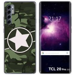 Funda Gel Tpu para TCL 20 Pro 5G diseño Camuflaje 01 Dibujos