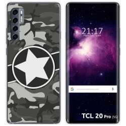 Funda Gel Tpu para TCL 20 Pro 5G diseño Camuflaje 02 Dibujos