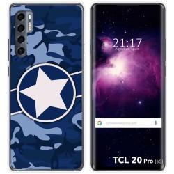 Funda Gel Tpu para TCL 20 Pro 5G diseño Camuflaje 03 Dibujos
