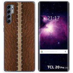 Funda Gel Tpu para TCL 20 Pro 5G diseño Cuero 01 Dibujos