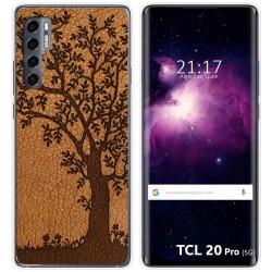 Funda Gel Tpu para TCL 20 Pro 5G diseño Cuero 03 Dibujos