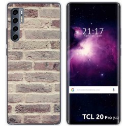 Funda Gel Tpu para TCL 20 Pro 5G diseño Ladrillo 01 Dibujos