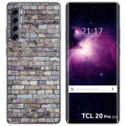 Funda Gel Tpu para TCL 20 Pro 5G diseño Ladrillo 02 Dibujos