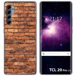 Funda Gel Tpu para TCL 20 Pro 5G diseño Ladrillo 04 Dibujos