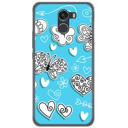 Funda Gel Tpu para Wileyfox Swift 2 Diseño Mariposas Dibujos