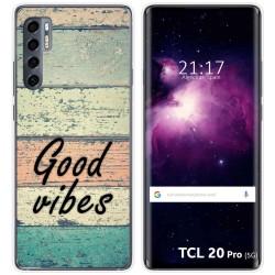 Funda Gel Tpu para TCL 20 Pro 5G diseño Madera 01 Dibujos